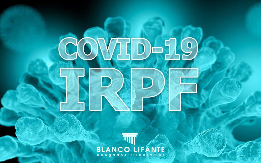 Implicaciones fiscales del COVID-19 en el IRPF 2020